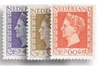 Holland - Dronning Wilhelmina 1947-1948 (Hartz) (nr. 487-489, Postfrisk)