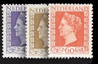 Nederland Koningin Wilhelmina 1947-1948 - Nr. Hartz - Nr. 487-489 - Postfris