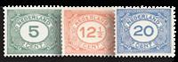 Holland 1921-1922 - NVPH 107-109 - Ubrugt