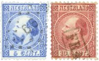 Holland 1867-1868 - NVPH 7-8 - Stemplet