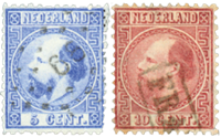 Holland 1867-1868 - NVPH 7-8 - Stemplet