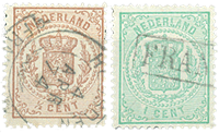 Holland 1869-1871 - NVPH 13-15 - Stemplet