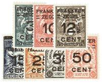 Nederland - Suriname Brandkastzegels 1927 (nr. 130-136, postfris)