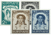 Suriname 1938 - Nr. 183-186 - Postfris