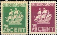 Nederland - Scheepje Indische druk 1941 (nr. 195-196, postfris)