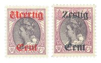 Holland 1919 - NVPH 102-103 - Ubrugt