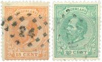 Holland 1872-1888 - NVPH 23-24 - Stemplet