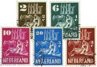 Holland 1950 - NVPH 556-560 - Stemplet