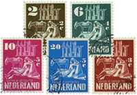 Holland 1950 - NVPH 556-560 - Stemplet