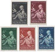 Holland 1938 - NVPH 313-317 - Ubrugt