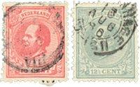Holland 1872-1888 - NVPH 21-22 - Stemplet