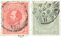 Holland 1872-1888 - NVPH 21-22 - Stemplet