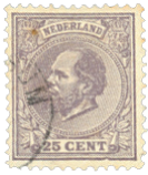 Holland 1872-1888 - NVPH 26 - Stemplet