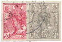 Holland 1923 ongetand - NVPH 82-83 - Stemplet