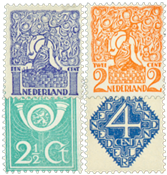 Holland 1923- NVPH 110-113 - Ubrugt