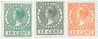 Holland 1924 - NVPH 136-138 - Ubrugt
