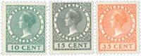 Pays-Bas 1924 - NVPH 136-38 - Neuf avec charnière