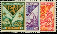 Tweezijdige roltanding Kind 1925 - Nr. R71-R73 - Postfris