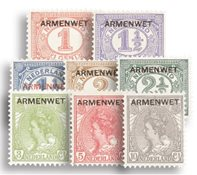 Nederland Opdruk Armenwet 1913 - Nr. D1-D8 - Postfris