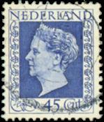 Nederland 45 ct blauw uit de hartzserie - Nr. 487 - Gebruikt