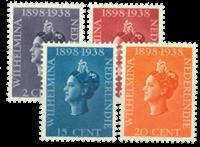 Nederland - Jubileum Koningin Wilhelmina 1938 (nr.235-238, postfris)