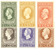 Holland 1913 - NVPH 90-95 - Ubrugt
