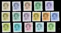 Koningin Beatrix 1981-1990 in zwart 1237-1252