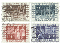 Holland 1952 - NVPH 592-595 - Stemplet