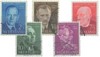 Holland 1954 - NVPH 641-645 - Stemplet