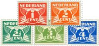 Holland 1924-1925 - NVPH 144-148 - Ubrugt