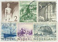 Holland 1950 - NVPH 550-555 - Stemplet