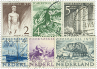 Holland 1950 - NVPH 550-555 - Stemplet