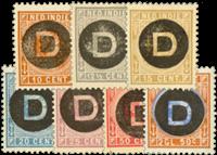 Nederlands Indië 1892 - D1-D7 - Ongebruikt