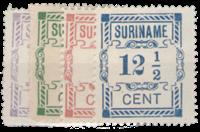 Suriname 1912 - Nr. 65-68 - Ongebruikt