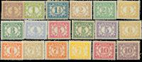 Suriname 1913-1931 - Nr. 69-86 - Ongebruikt