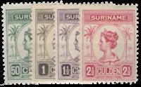 Suriname 1913-1926 - Nr. 100-103 - Ongebruikt
