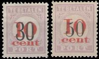 Hulpuitgifte 1911 overdruk in rood (nr. P15-P16, ongebruikt)
