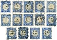 Holland 1894 - NVPH P13-P26 - Stemplet