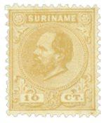 Nederland - 10 ct geelbruin Koning Willem III (nr.5, ongebruikt)