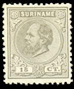 Nederland - 15 ct grijs Koning Willem III (nr. 8, ongebruikt)