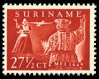 Nederland - luchtpostzegel Paramaribo-Amsterdam 1949 (nr. LP 31, postfris)