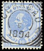 Nederland - 10 ct ultramarijn Willem III (nr. 4, gebruikt)