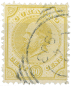 Pays-Bas - 60 ct Willem III, no 10, oblitéré