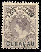 Pays-Bas - 1,50 florin - 2,50 florin violet/gris, no 28 neuf