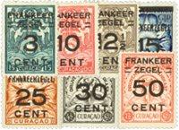 Nederland - overdruk van niet uitgegeven brandkastbrandkastzegels