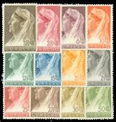 Pays-Bas - Reine Wilhelmina 1936 - nos 126-137, neuf avec chernière