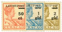 Nederland - Hulpuitgifte 1929  Opdruk Luchtpost enwaarde in zwart