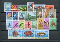 Indonésies - Année 1972 - Zb 710-733 - Neuf