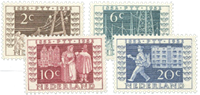 Holland 1952 - NVPH 592-595 - Ubrugt