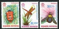 Indonesien - insekter - Postfrisk sæt af 3